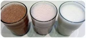 nut milk glass